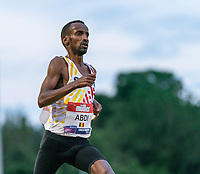 5th June 2021; Birmingham University Athletics Track, Birmingham, Midlands, England; European 10000 Metre Finals, British Olympic Trials 10000 Metre; Bashir Abdi, training parter of Mo Farah finishes in second place and runs an Olympic Qualifying time