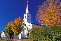 church, Dublin, New Hampshire, NH, Community Church in the town of Dublin in the autumn.