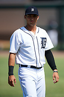 Detroit Tigers Garrett McCain (39) during warmups before an Instructional League game against the Toronto Blue Jays on October 12, 2017 at Joker Marchant Stadium in Lakeland, Florida.  (Mike Janes/Four Seam Images)