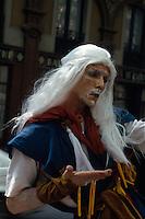 Spanien, Katalonien, Barcelona, Pantomime auf den Ramblas.