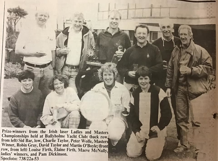 Irish Ladies Laser and Masters Championships circa 1975 courtesy Elaine Taylor