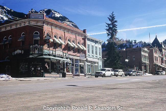 HOTEL AND STREET IN OURAY COLORADO