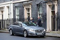 Boris Johnson departs Downing Street, in his Jaguar car.<br /> London, England on January 06, 2020.<br /> CAP/GOL<br /> ©GOL/Capital Pictures
