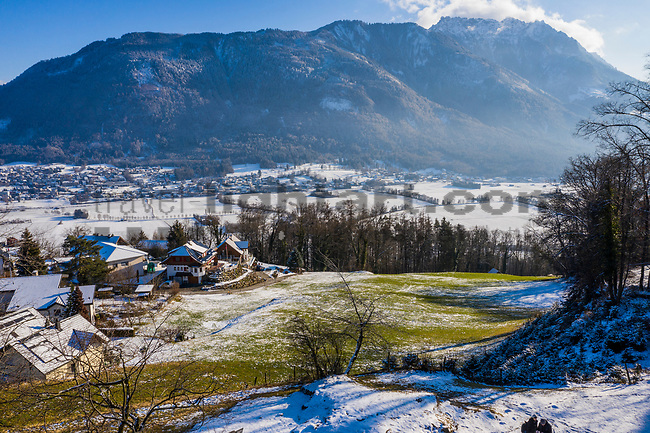 Burg, Schellenberg, Drohnenaufnahme: Liechtenstein.<br /> <br /> Foto: ©Paul J. Trummer