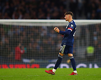 9th October 2021; Hampden Park, Glasgow, Scotland; FIFA World Cup football qualification, Scotland versus Israel;  Nathan Patterson of Scotland celebrates the goal 2-2 in the 57th minute