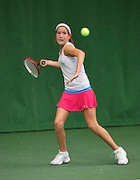 01-12-13,Netherlands, Almere,  National Tennis Center, Tennis, Winter Youth Circuit, Kim Hansen<br /> Photo: Henk Koster