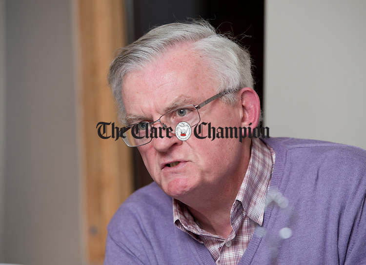 Michael Leyden, Labour Party activist, at the Clare Champion round table General Election 2016 debate in Cairde cafe, Ennis. Photograph by John Kelly.