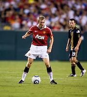 Darren Fletcher. Manchester United defeated Philadelphia Union, 1-0.