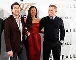 Actor Javier Bardem, actress Naomie Harris and actor Daniel Craig attend 'Skyfall' photocall on October 29, 2012 in Madrid, Spain. .(ALTERPHOTOS/Harry S. Stamper)
