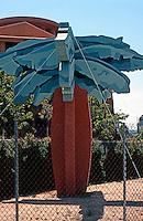 Michael Graves: Detail--Disney Headquarters, Pala Tree.  Photo '91.