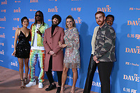 """LOS ANGELES - JUN 10:  Christine Ko, GaTa, Dave Burd aka Lil Dicky, Taylor Misiak, Travis Bennett aka Taco, and Andrew Santino at the """"Dave"""" Season Two Premiere Screening at the Greek Theater on June 10, 2021 in Los Angeles, CA"""