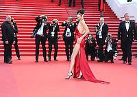 BELLA HADID<br /> MONTEE DES MARCHES DU FILM LA FILLE INCONNUE (THE UNKNOWN GIRL)<br /> RED CARPET OF THE MOVIE LA FILLE INCONNUE (THE UNKNOWN GIRL)<br /> 69 EME FESTIVAL DE CANNES