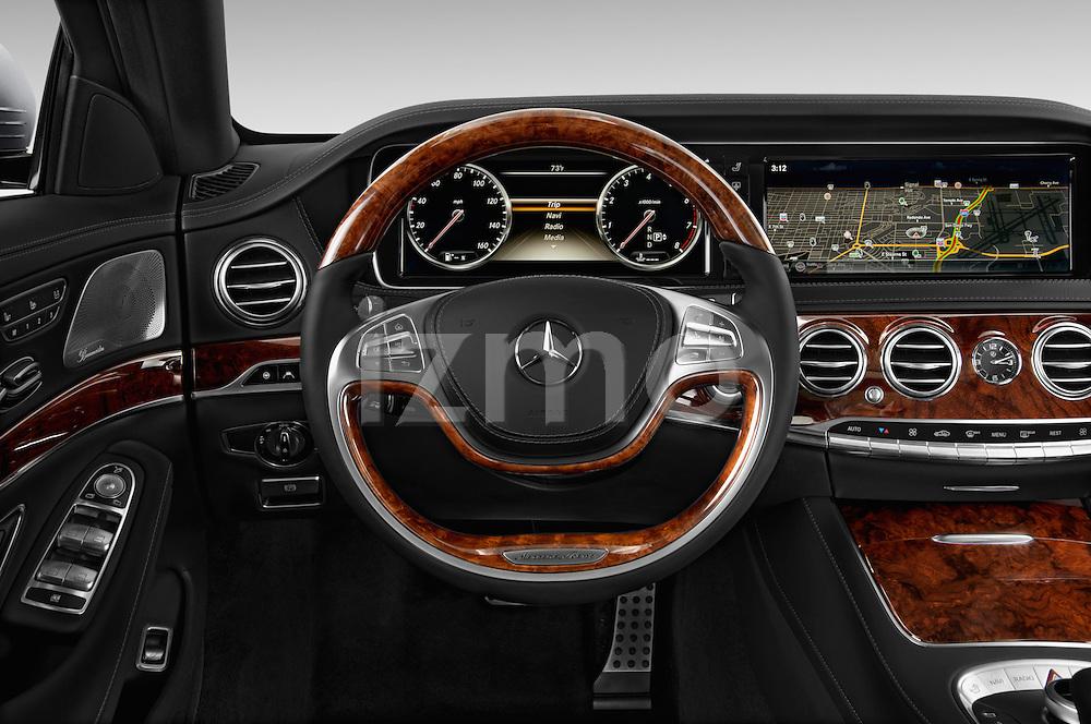 Car pictures of steering wheel view of a 2017 Mercedes Benz S-Class S550 4 Door Sedan Steering Wheel