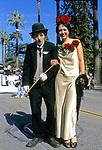 Charlie Chaplin look alike at the Doo Dah Parade in Pasadena, CA