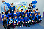 Junior infants in CBS NS, Tralee on Monday with their teachers Denis Coleman (Principal).<br />  Miss Donoghue and Miss Casey