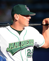 Jamestown Jammers Logan Morrison during a NY-Penn League game at Russell Diethrick Park on August 13, 2006 in Jamestown, New York.  (Mike Janes/Four Seam Images)