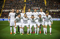 VALENCIA, SPAIN - MARCH 2: Real Madrid team during BBVA League match between VLevante U.D. and R. Madrid at Ciudad de Valencia Stadium on March 2, 2015 in Valencia, Spain
