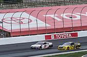 #11: Denny Hamlin, Joe Gibbs Racing, FedEx Express Toyota Camry, #2: Brad Keselowski, Team Penske, Western Star/Alliance Parts Ford Mustang
