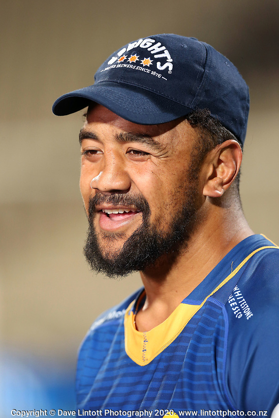 Otago's Nasi Manu after the 2020 Mitre 10 Cup rugby match between Canterbury and Otago at Orangetheory Stadium in Christchurch, New Zealand on Friday, 30 October 2020. Photo: Martin Hunter / lintottphoto.co.nz