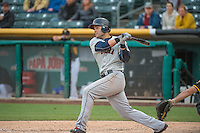 Jesus Montero (20) of the Tacoma Rainiers at bat against the Salt Lake Bees in Pacific Coast League action at Smith's Ballpark on May 7, 2015 in Salt Lake City, Utah.  (Stephen Smith/Four Seam Images)