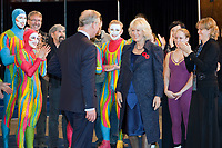 Canada, Montréal le 10 novembre 2010, visite de leurs altesses royales le Prince de Galles et la Duchesse de Cornouailles, visite du Cirque du Soleil // Canada, Montreal November 10, 2010, visit of their Royal Highnesses the Prince of Wales and the Duchess of Cornwall, Cirque du Soleil visit<br /> PHOTO :  Agence Quebec presse