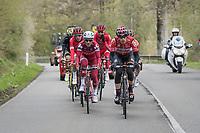 The early breakaway group<br /> <br /> 103rd Liège-Bastogne-Liège 2017 (1.UWT)<br /> One Day Race: Liège › Ans (258km)