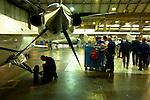 12 gennaio 2012, ore 12,05,Genova Sestri, Piaggioaero <br /> operatori eseguono test di collaudo a terra del velivolo P. 180 Avanti II