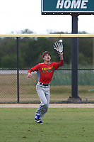 Tyler Henrich (11) of Venus, Texas during the Baseball Factory All-America Pre-Season Rookie Tournament, powered by Under Armour, on January 13, 2018 at Lake Myrtle Sports Complex in Auburndale, Florida.  (Michael Johnson/Four Seam Images)