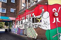 Nederland  Nijmegen  - September 2020 .   Muurschildering bij St. Thomashof. Romeinen en Bataven.  Foto : ANP/ Hollandse Hoogte / Berlinda van Dam