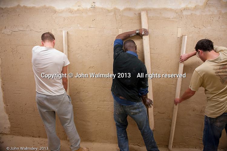 Plastering training, Able Skills, Dartford, Kent.