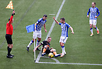01.11.2020 Kilmarnock v Rangers:  Scott Arfield wastes some time at the corner flag as Rangers see out the closing minutes