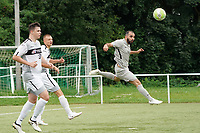 Kopfball Goekhan Kizkapan (Stockstadt) - Rüsselsheim 22.08.2021: SV Alemannia Königstädten vs. SKG Stockstadt, Kreisliga A