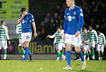 St Johnstone v Celtic…..29.01.20   McDiarmid Park   SPFL<br />Callum Booth holds his head after saints concede a third goal<br />Picture by Graeme Hart.<br />Copyright Perthshire Picture Agency<br />Tel: 01738 623350  Mobile: 07990 594431