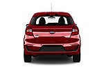 Straight rear view of a 2019 Ford Ka+ Ultimate 5 Door Hatchback stock images