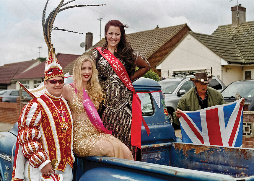 """Visiting Prince Patrick I Lohmann (Weisel, district of Rhein-Lahn, Rheinland-Palintinate, Deutschland), Miss Teen Suffolk, Emma Collingridge and Miss East Coast Curve, Natalie Moloney, presiding over Felixstowe carnival.<br /> <br /> """"You survived what you thought would kill you. Now straighten your crown and move forward like the queen you are."""""""