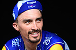 Julian Alaphilippe (FRA) Deceuninck-Quick Step finishes 3rd and takes back the Yellow Jersey at the end of Stage 8 of the 2019 Tour de France running 200km from Macon to Saint-Etienne, France. 13th July 2019.<br /> Picture: ASO/Alex Broadway   Cyclefile<br /> All photos usage must carry mandatory copyright credit (© Cyclefile   ASO/Alex Broadway)
