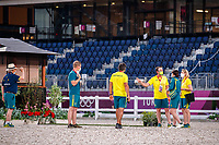 The Australian Equestrian Team - Eventing, do their evening familiarisations prior to competition at the Equestrian Park. Tokyo 2020 Olympic Games. Monday 26 July 2021. Copyright Photo: Libby Law Photography