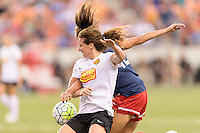 Houston, TX - Sunday Oct. 09, 2016: Elizabeth Eddy, Katie Stengel during the National Women's Soccer League (NWSL) Championship match between the Washington Spirit and the Western New York Flash at BBVA Compass Stadium. The Western New York Flash win 3-2 on penalty kicks after playing to a 2-2 tie.