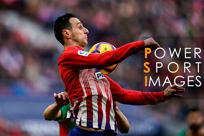 Nikola Kalinic of Atletico de Madrid in action during the La Liga 2018-19 match between Atletico de Madrid and Deportivo Alaves at Wanda Metropolitano on December 08 2018 in Madrid, Spain. Photo by Diego Souto / Power Sport Images