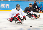 Sochi, RUSSIA - Mar 2 2014 -  Dominic Larocque during practice before the 2014 Paralympics in Sochi, Russia.  (Photo: Matthew Murnaghan/Canadian Paralympic Committee)