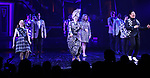 """Dana Steingold, Jill Abramovitz and Kelvin Moon Loh  during the Broadway Opening Night Performance Curtain Call for """"Beetlejuice"""" at The Winter Garden on April 25, 2019 in New York City."""