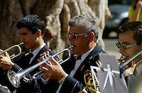 Spanien, Kanarische Inseln, Gomera, San Sebastian, Konzert an der Plaza de la Constitucion