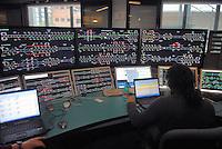 - Bologna, the control room of high-speed railway lines....- Bologna, sala di controllo generale delle linee ferroviarie ad alta velocità