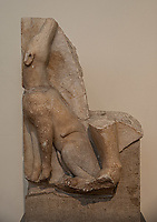 Athens, archeological museum, part of a grave stele (Anaphe) Dog  ca. 460 BC
