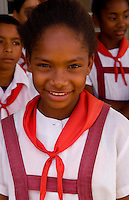 School children at elementary school in the country in Australia inMatanzas Provence Cuba called Primary School of Nelson Fernandez