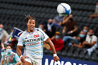 26th September 2020, Paris La Défense Arena, Paris, France; Champions Cup rugby semi-final, Racing 92 versus Saracens; Thomas (Racing 92) chases the through ball
