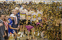 podium festivities...<br /> <br /> 2016 Gent 6<br /> day 6