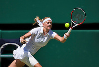 England, London, 28.06.2014. Tennis, Wimbledon, AELTC, Quarterfinal match between Lucie Safarova and Petra Kvitova, Pictured: Petra Kvitova (CZE)<br /> Photo: Tennisimages/Henk Koster
