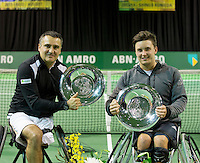 Februari 13, 2015, Netherlands, Rotterdam, Ahoy, ABN AMRO World Tennis Tournament, Stephane Houdet (FRA) / Gordon Reid (GBR)<br /> Photo: Tennisimages/Henk Koster