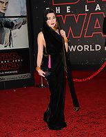 """Dita Von Teese at the world premiere for """"Star Wars: The Last Jedi"""" at the Shrine Auditorium. Los Angeles, USA 09 December  2017<br /> Picture: Paul Smith/Featureflash/SilverHub 0208 004 5359 sales@silverhubmedia.com"""